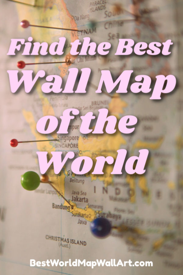 Wall Map of the World by BestWorldMapWallArt.com