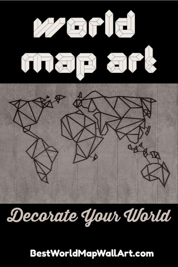 World Map Art by JetSettingFools.com